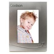 Silver Heart Godson 4 x 6 Photo Frame