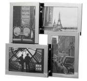 """Brooklyn Stainless Steel Four Aperture 4""""x6"""" (100mmx150mm) Photo Frame"""