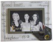 Sixtrees 3-273-64 15cm x 10cm Moments Good Times Glass and Mirror Photo Frame