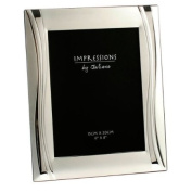 Silver Plated Photo Frame - Wave Design 6x8