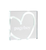Spaceform Miniature Pageboy Glass Token with White Heart 1156