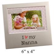 I Love My Nanna 15cm x 10cm Aluminium Frame - FA518NAN