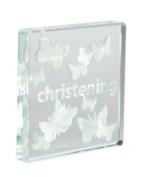 Spaceform Miniature Glass Token - Christening Butterflies