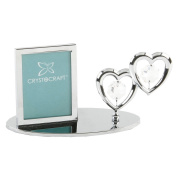 Crystocraft Swarvoski Crystal - Hearts Mini Picture Frame SP275