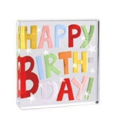 Happy Birthday Shout! Glass Keepsake Token by Spaceform