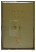Sixtrees 1-400-35 8.9cm x 13cm Hartford Solid Brass Photo Frame