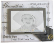 Sixtrees 3-276-64 15cm x 10cm Moments Grandkids Glass and Mirror Photo Frame