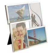 Jackson Silver Plated 3D Four Picture Photo Frame (H26cm x W26cm Photo size 10cm x 15cm