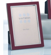 SIXTREES NEW ZURICH RED ON SILVER PHOTO FRAME 5 X 7