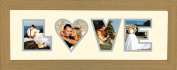 Photos in a Word - Love Photo frame in Oak Finish