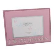 Pink Glass Photo Frame Grandma, gift