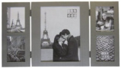 Sixtrees 2406 Coll 5 x 7(4) 5.1cm x 7.6cm Dylan Matt Brushed Silver Coloured Hinged Collage Photo Frame