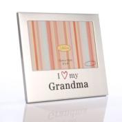 I Love My Grandma Aluminium Photo Frame