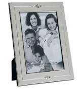 Traditional Two Tone Matt/Shiny Designer Silver Plated Photo/Picture Frame That Holds a 13cm x 18cm Picture/Photo