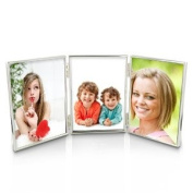 Silver Plated Triple 5 x 7 Photo Frame