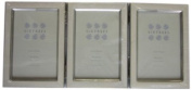 Sixtrees 2-699-46wht 4 x 6(3)-inch Zurich Enamel Silver Plate Hinged Triple Photo Frame, White