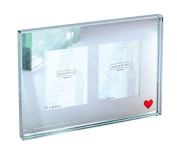 Spaceform Double Glass Picture Frame - Red Heart