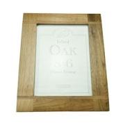 Transomnia Oak Wood Inlay Photo Frame 8x6