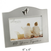 60 Years Together Silver Plated Amore Photo Frame 7