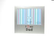 I Love My Dad - Daddy Aluminium Photo Frame 4 X 6 New
