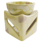 Handmade Marble Design Oil Burner - Yellow