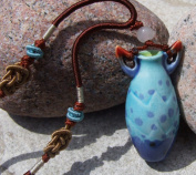 Aromatherapy Necklace - Devil - mini Amphora and Jade thread