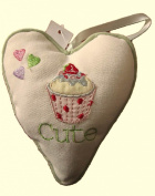 Cupcake Hanging Heart With Special Message - CUTE