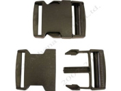 1 x 50mm Black Side Release (Quick Release) Buckles