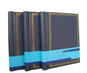 3 Self Adhesive Large Photo Albums 20 Sheets 40 Sides In Blue Totalling 60 Sheets 120 Sides