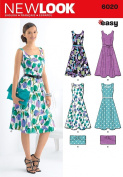 New Look A 8-10-12-14-16-18 Sewing Pattern 6020 Misses Dresses and Purse
