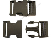 1 x 38mm Black Side Release (Quick Release) Buckles