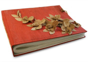 Medium Red Flower Handmade Photo Album, Classic Style pages with Cotton Gift Bag
