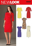 New Look A 4-6-8-10-12-14-16 Sewing Pattern 6000 Misses Dresses