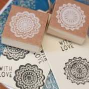 Lace Style Square Rubber Stamps x 2 - Craft / Scrapbooking / Wedding
