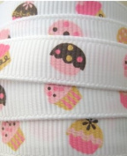 1M Cupcake Ribbon 9mm Wide. Decorative Ribbon For Gift Wrapping, Card Making, Crafts and Scrapbooking.
