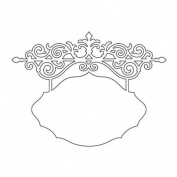 Sizzix Thinlits Ornate Hanging Sign Die