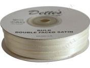 7mm x 100m Ivory (61) Dette's BULK Double Faced Satin Ribbon