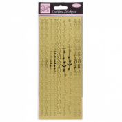 Anitas outline peel off craft stickers - Floral Borders Gold