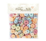 Assorted Buttons (250g) - Vintage Notes