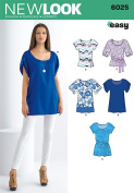 New Look A 8-10-12-14-16-18 Sewing Pattern 6025 Misses Tunic/ Tops
