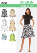 Simplicity K5 8-10-12-14-16 Sewing Pattern 2655 Misses Skirt