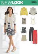 New Look A 4-6-8-10-12-14-16 Sewing Pattern 6035 Misses Separates