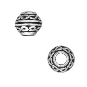 Fine Silver Plated Pewter Celtic Large Hole Spacer Beads 8mm
