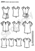 Simplicity Sewing Pattern 2594 Misses Tops, K5
