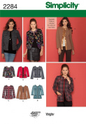 Simplicity U5 16-18-20-22-24 Sewing Pattern 2284 Misses and Miss Petite Jacket