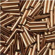 Toho Bugle Tube Beads Size #3 2x9mm Bronze 10 Grammes