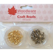 Woodware Craft Collection Mini Heart Brads - Gold/Silver