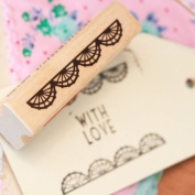 Lace Border Rubber Stamp - Craft / DIY Tags / Wedding Favours / Scrapbooking