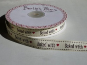 3M Baked With Love Ribbon. Decorative Ribbon For Gift Wrapping, Card Making, Crafts and Scrapbooking.