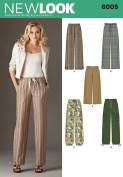 New Look A 10-12-14-16-18-20-22 Sewing Pattern 6005 Misses Pants